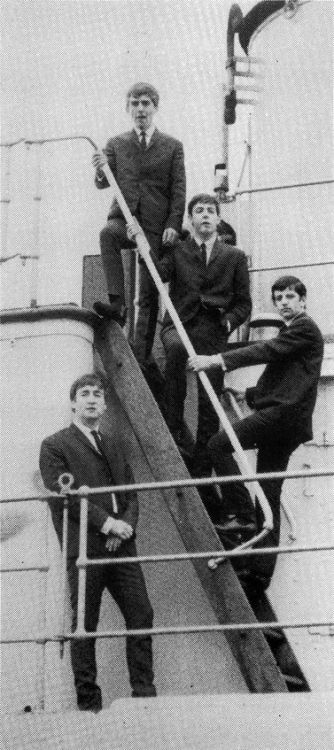 * The Beatles! * The Salvor. Albert Dock, Liverpool. Late September 1962. Wednesday. (by Les Chadwick).