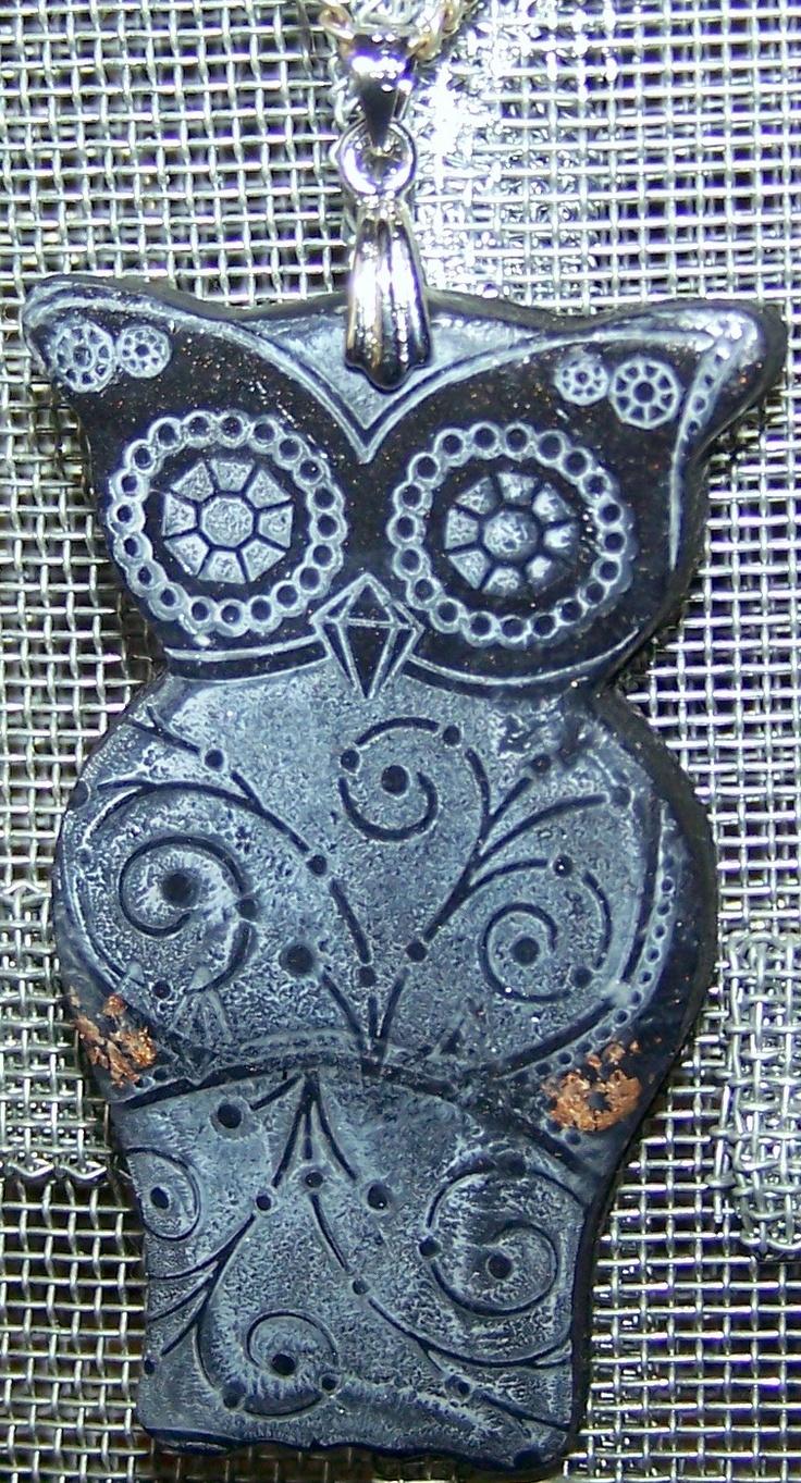 "Pendant ""Owl"" by MelliesBastelweltPendants Owls"