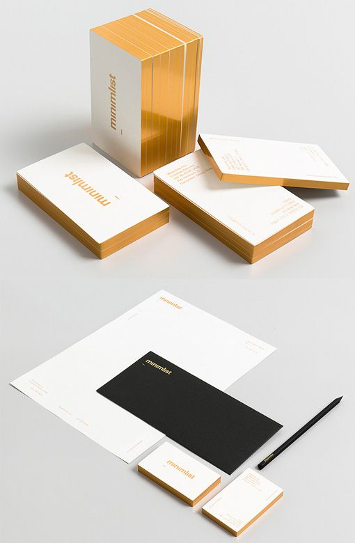 Minimalist design studio's own gold edge stationery set is just sexy, from South Korea.