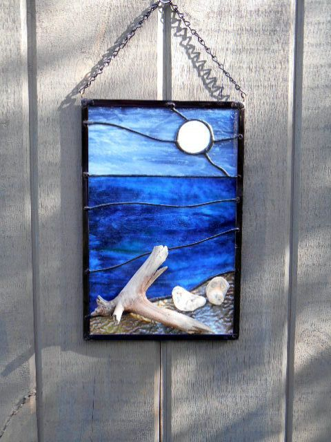 25 best ideas about moon over water on pinterest full for How to make stained glass in driftwood
