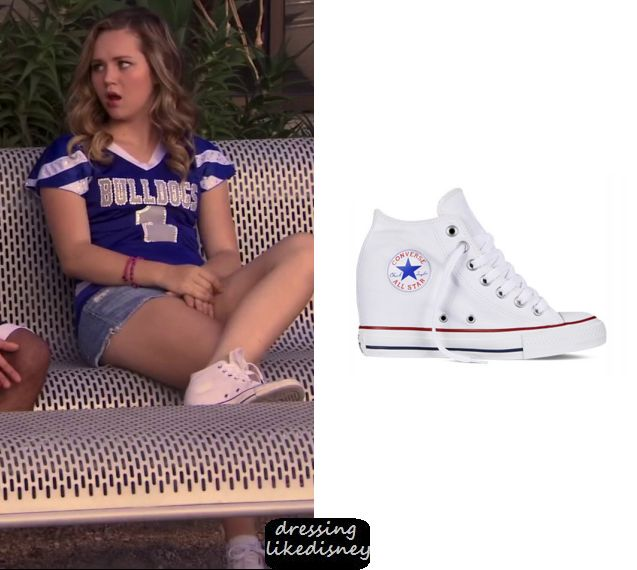 Dressing Like Disney: Celebrity, TV Fashion, Outfits and Style Source: Bella and the Bulldogs: Season 2 Episode 1 Bella's Heeled Converse