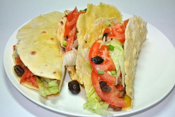 Мексиканские лепешки с начинкой - тако