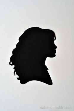 The Brightest Witch of Her Age --  Hermione Granger silhouette. -- Isabel Talsma - italsma.tumblr.com