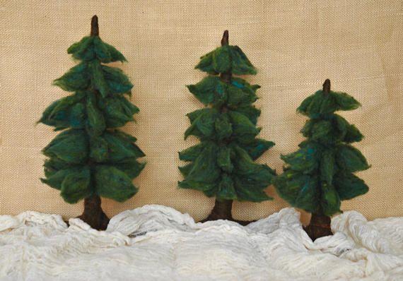 Fir Needle Felted  Waldorf Inspired : Pine Evergreen tree