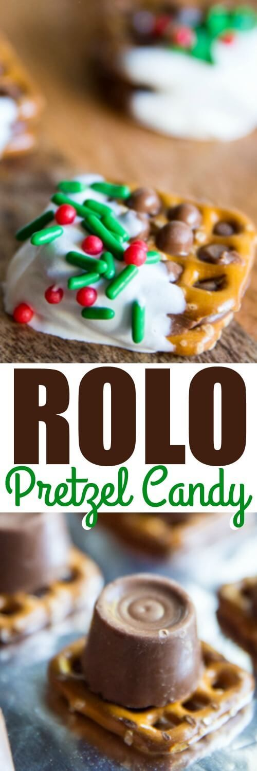 It takes just 3 ingredients to make these super-simple Rolo Pretzel Candies! Perfect for your last-minute candy-making needs this holiday season.