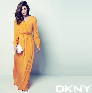 Yalda Golsharifi models a dress for her DKNY 'Ramadan Collection'