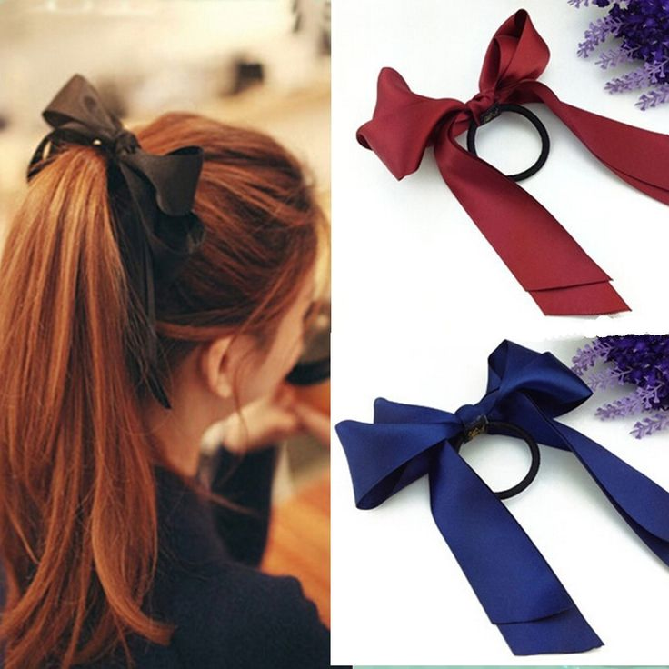 Preferential Hair Band Scrunchie Ponytail Holder Multi Color Hair Tie Rope Fashion Hair Accessories Women Ribbon Bow 1pcs/lot