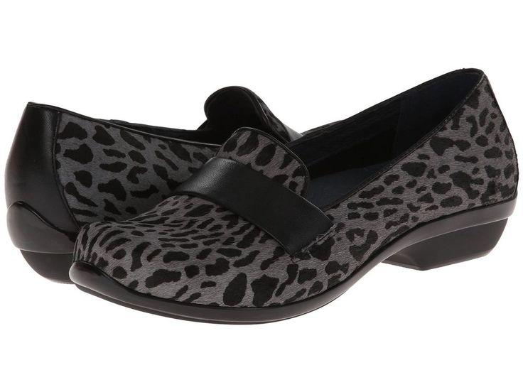 Dansko Oksana Women Shoes Flats Grey Cheetah Hair Calf Size 38 (US 7.5 - 8) New #Dansko #LoafersMoccasins #Casual