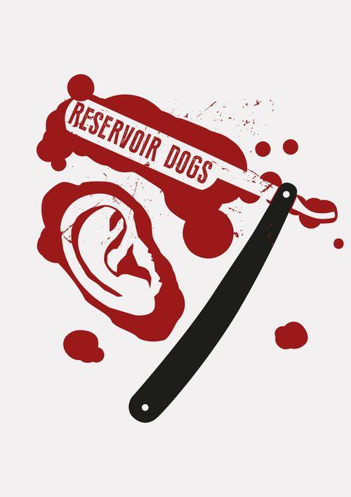 Reservoir Dogs movie poster design illustration