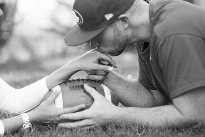 Football engagement pictures