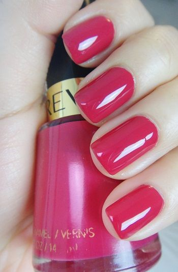 "Revlon ""Cherries in the Snow."" This particular shade made its debut in wait for it... 1953!!!this color is perfect! Looks amazing on everyone!!!!"