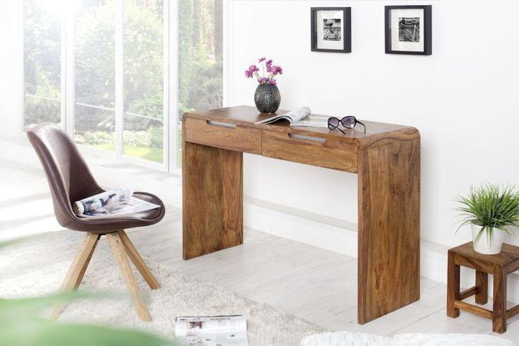 Drewniane biurko z szufladami (120 cm)