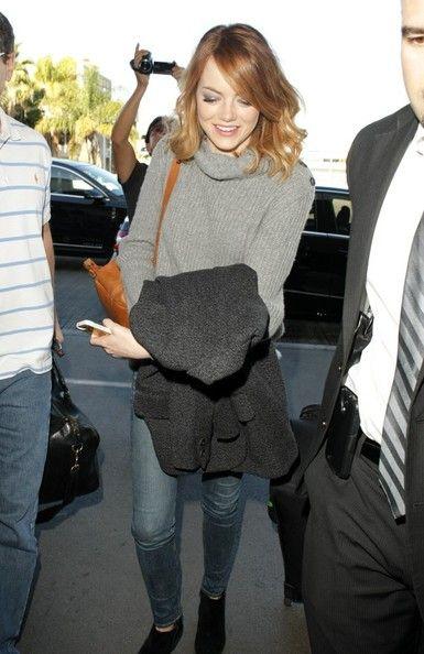 Emma Stone - Emma Stone Arrives at LAX