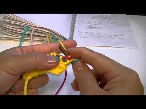 Knook Knooking: Increase Yarn Over (YO) Between Two Knit Stitches (K LR)