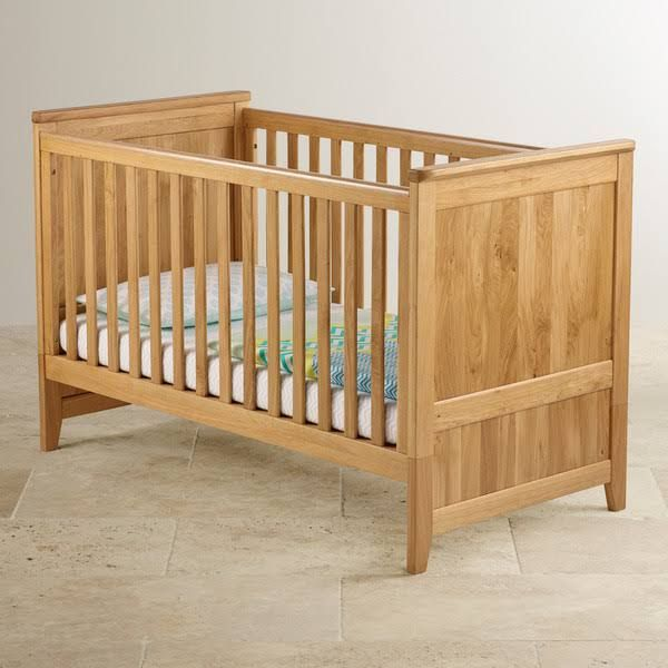 Bevel Solid Oak 3 in 1 Cot Bed | Baby Cot Bed