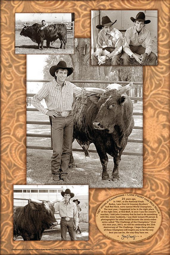 Lane Frost and Red Rock  1988 Challenge of by SueRosoffPhotography