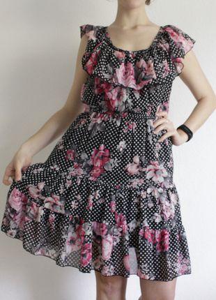 Kaufe meinen Artikel bei #Kleiderkreisel http://www.kleiderkreisel.de/damenmode/lange-kleider/126376930-susses-luftiges-sommerkleid-mit-blumenmuster-und-punkten-von-new-yorker