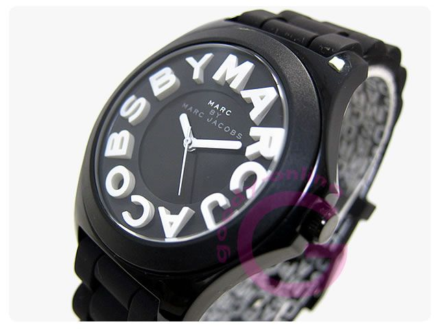 MARC BY MARC JACOBS(マークバイマークジェイコブス)  MBM4006 ラウンド ラバーベルト レディースウォッチ 腕時計