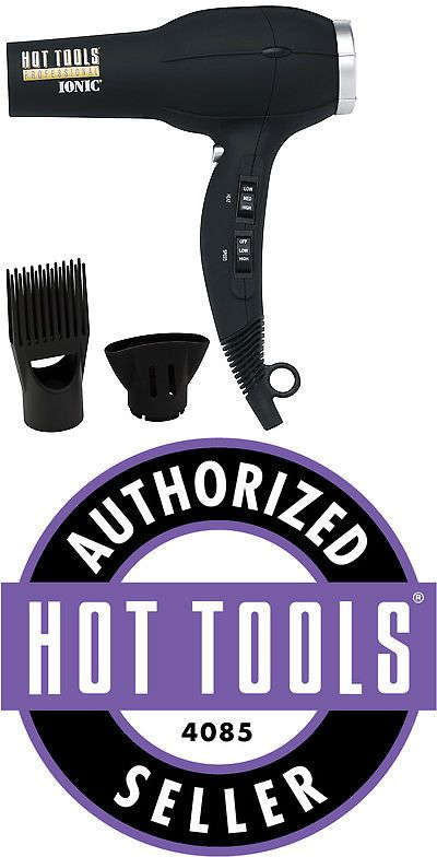 Hair Dryers: Hot Tools Professional 1875 Watt Anti-Static Ionic Salon Hair Dryer 1023 - Black -> BUY IT NOW ONLY: $34.95 on eBay!