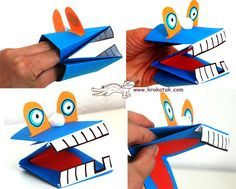 OK so the instructions are in Russian (I think...) but there are step by step pictures, and it looks very easy to make these adorable hand puppets.