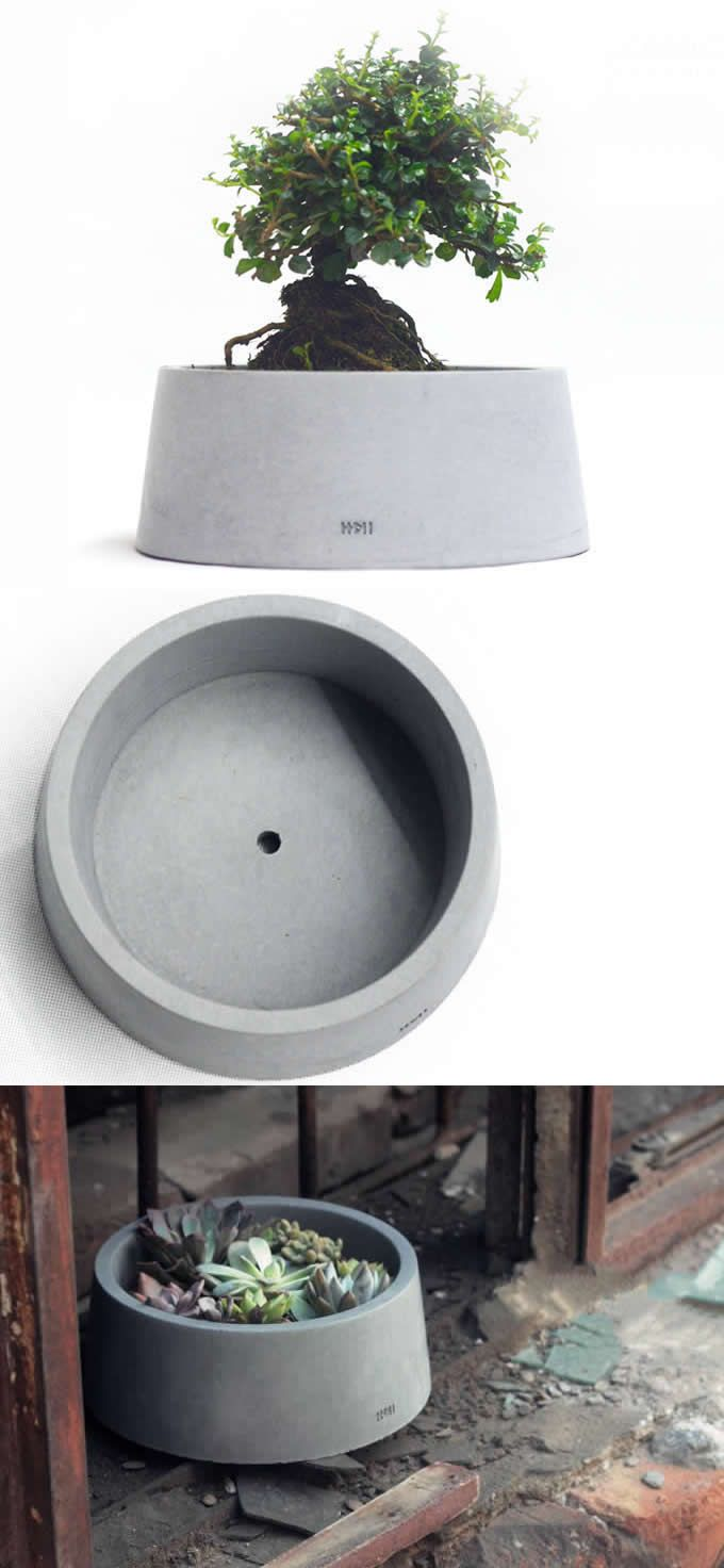 Handmade Concrete Round Succulent / Planter / Plant Pot / Flower Pot