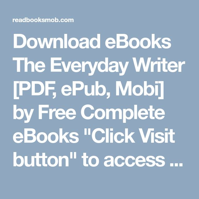 48 best my books images on pinterest download ebooks the everyday writer pdf epub mobi by free complete ebooks fandeluxe Choice Image