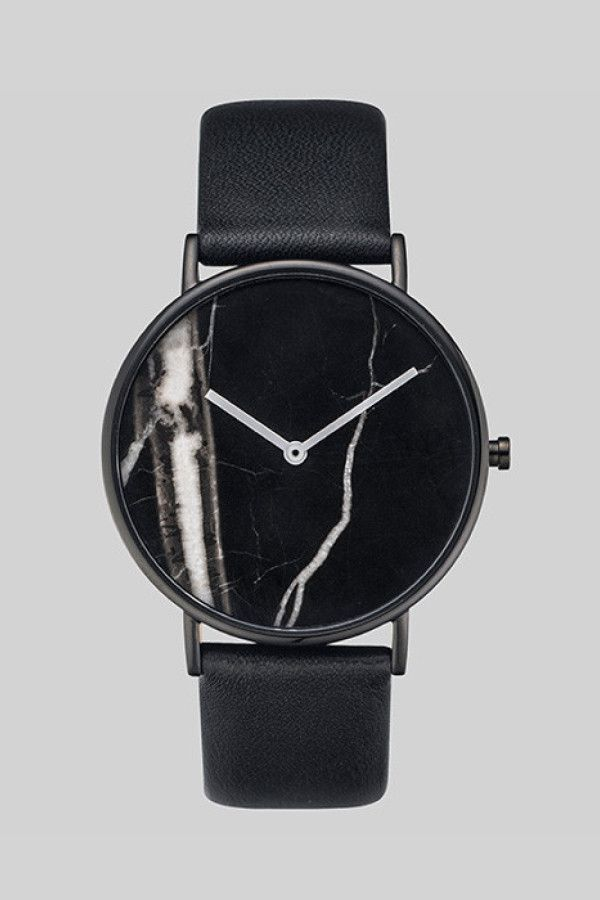 The Horse Stone Watch Black Stone/Black Leather – Parc