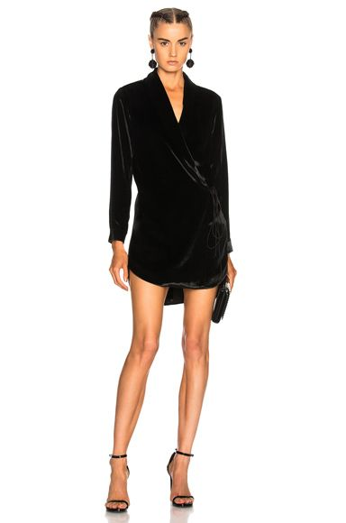 e58d4319c7957 Shop for Michelle Mason Wrap Jacket Dress in Black at FWRD. Free 2 day  shipping and returns.