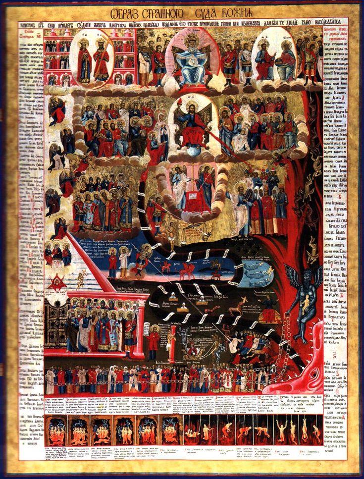 Η Δευτέρα Παρουσία, Ρωσία, 18ος αιώνας μ.Χ.  Ορθόδοξος Συναξαριστής - Κυριακή των Απόκρεω.