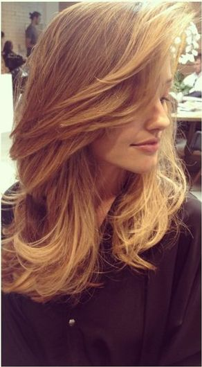 blending long bangs into layers. Ive wanted this forever, and just now found a picture of it!