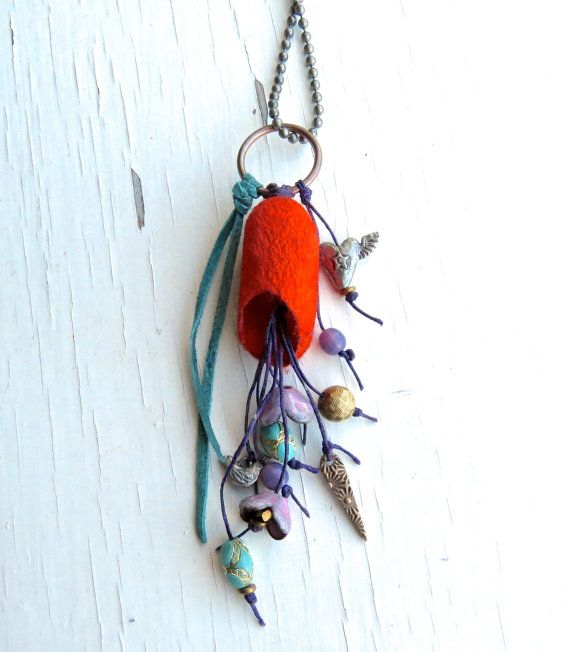 Jewelled Cacoon unique necklace silk necklace van songbead op Etsy, £35.00