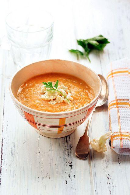 Zuppa di zucca e cavolfiore