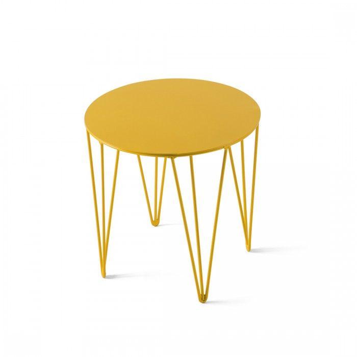 Tavolino Chele Tondo Ø 30x h.30 Giallo by Atipico