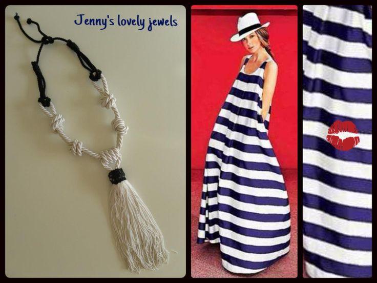 Necklace , fringes , stripes