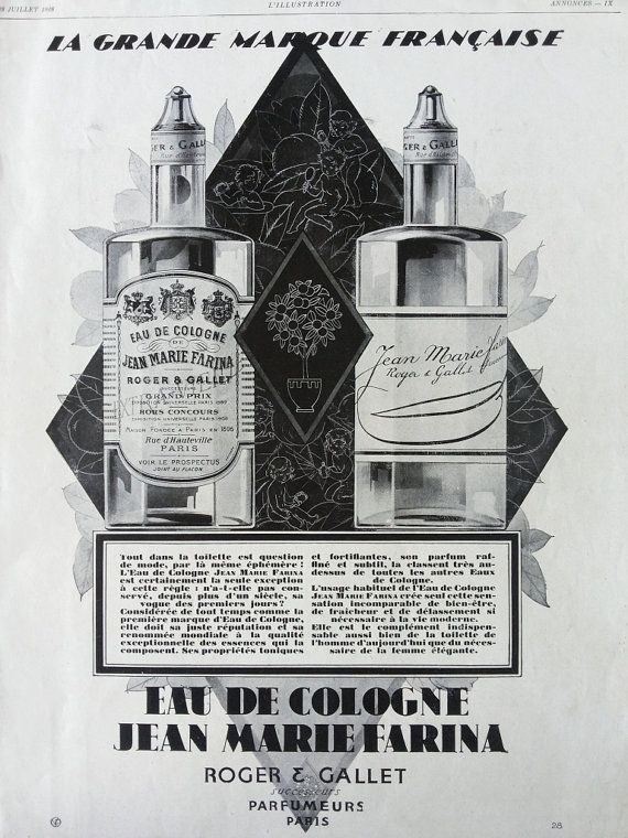 Eau de Cologne Jean Marie Farina by Roger Gallet French by OldMag