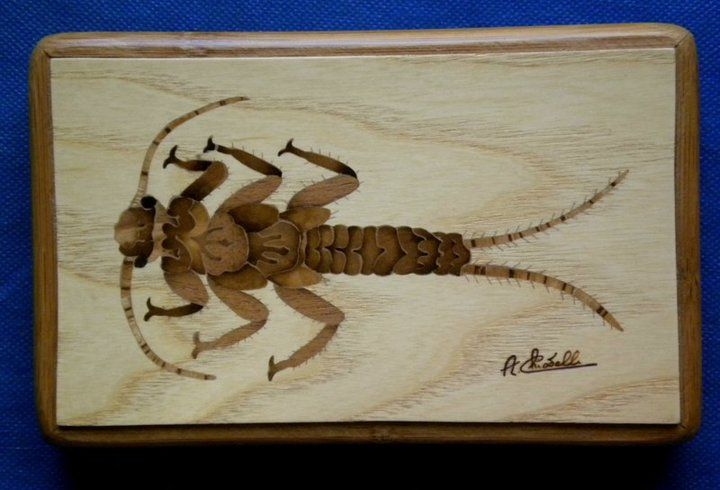 nymph inlaid with various precious woods