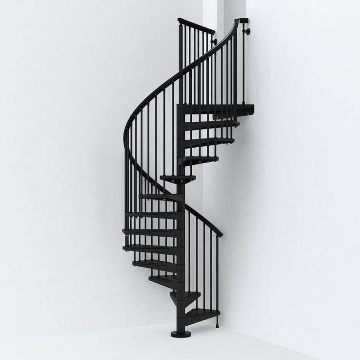 Best Arke Sky030 55 In X 10 Ft Black Spiral Staircase Kit At 400 x 300