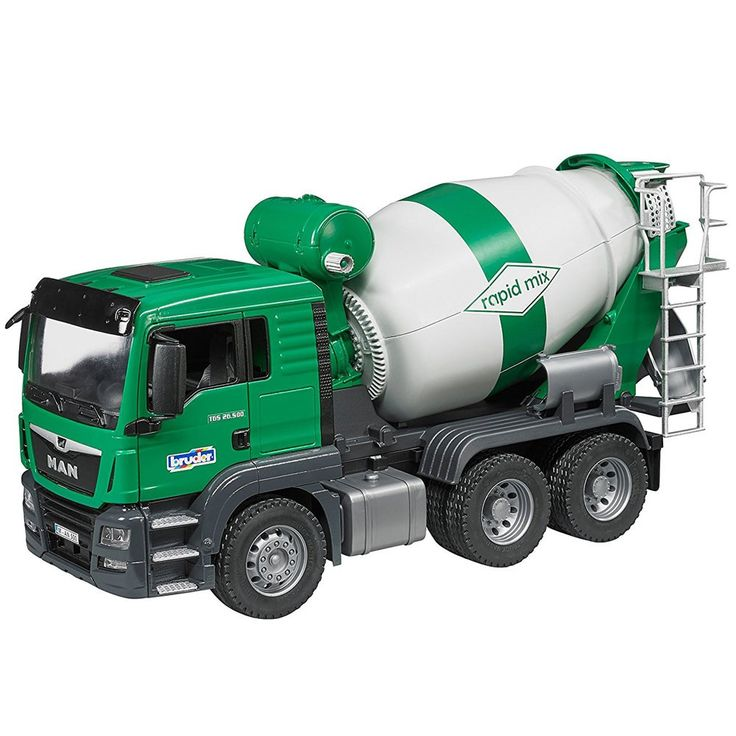 You  can have your own super realistic modern Bruder MAN TGS Cement Mixer Truck for all your play construction sites' needs. Manufactured by Bruder.