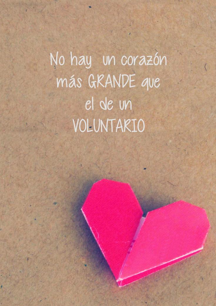 Seamos voluntarios de corazón!!!