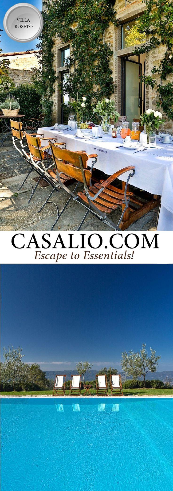 Best Villa Rentals in Italy  - Villa Roseto    www.casalio.com   Italy - Tuscany    Arezzo, 4 bedrooms, big…