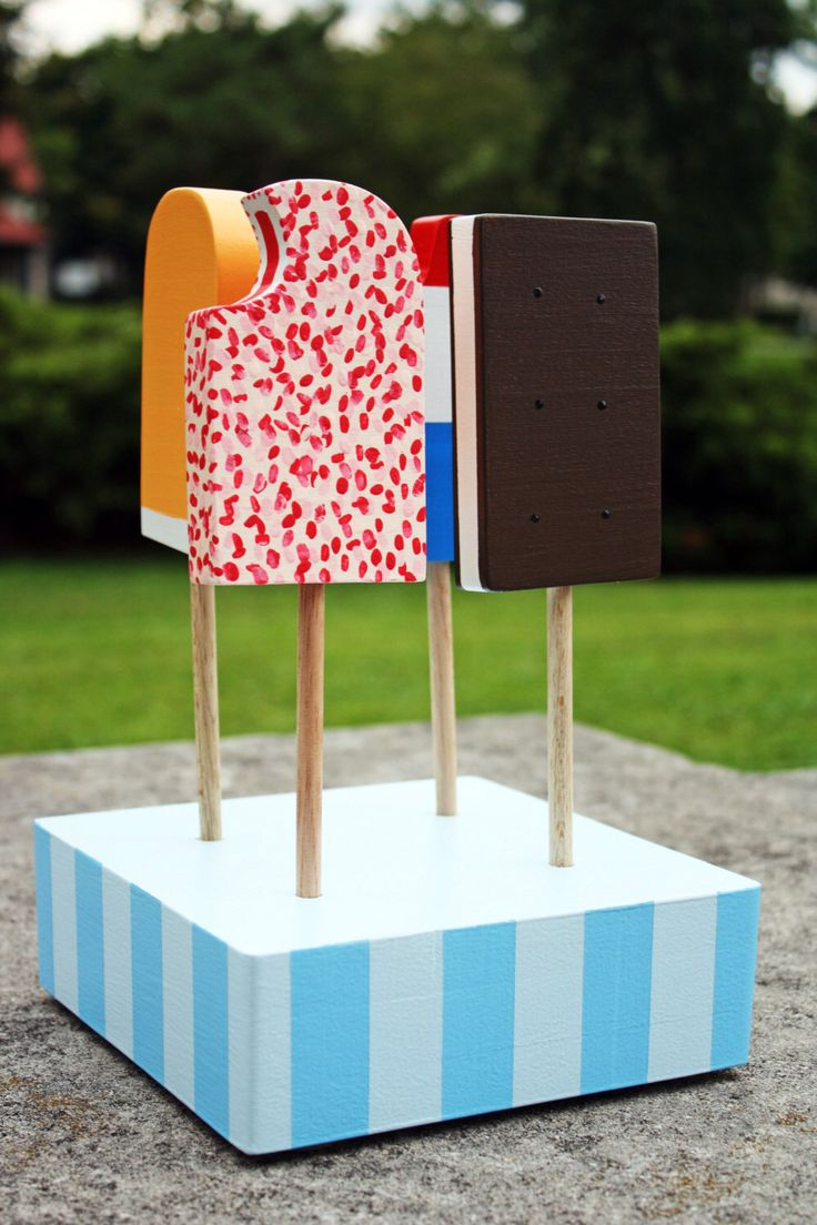 Toys beautiful and affordable all wood play kitchen sets inhabitots - Retro Wooden Toy Popsicle Set By Pennybeas On Etsy Https Www