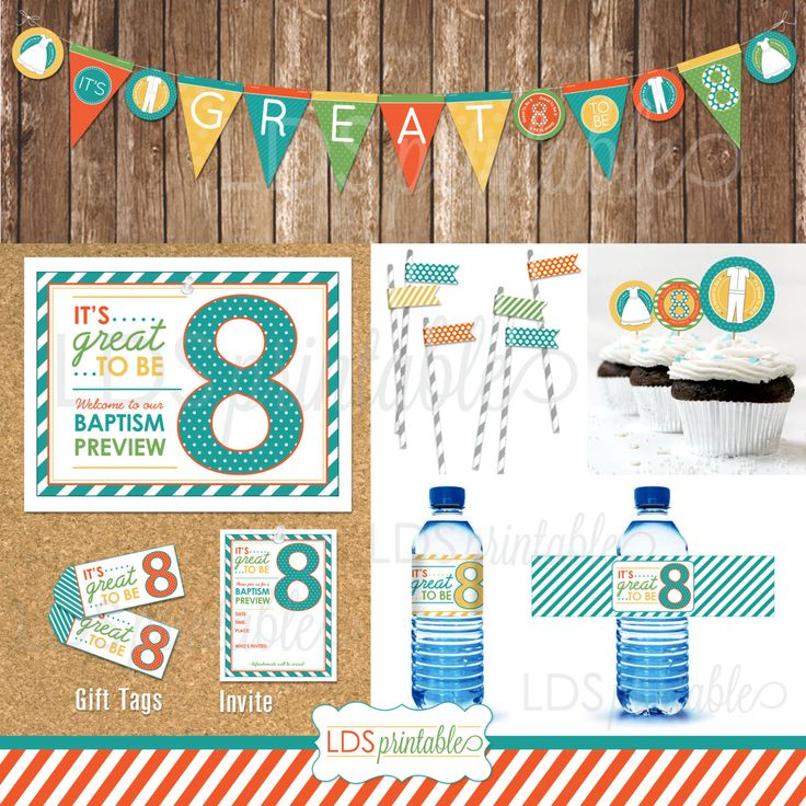 PRD001 Great To Be Eight 8 Baptism Preview Decor By
