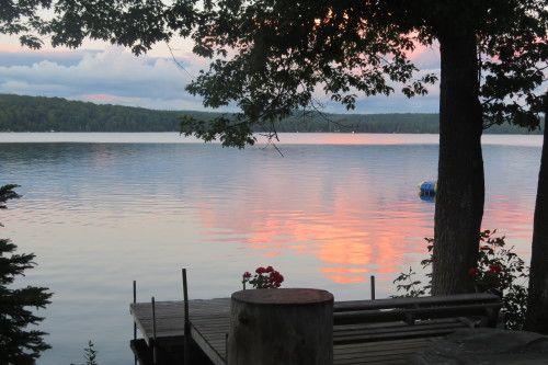Sunset on Hall's Lake, Ontario at Loralea Country Inn in Haliburton.