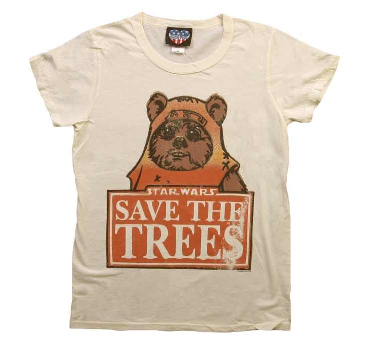 Womens Ewok Save the Trees T-Shirt Front