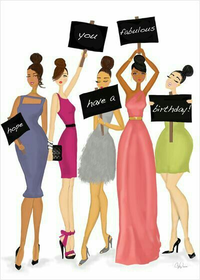 Image result for cute happy birthday woman