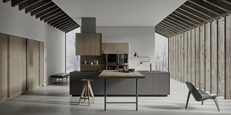 """The 3.1 system is characterized by six types of door openings, which allow to interpret in a different way the functionality and aesthetic of Copatlife kitchen. Copatlife realizes fifteen types of external handles, push-pull, """"Set"""" and """"Board"""" as innovative integrated handles, in order to cover all different tastes. Visit our showroom for more details."""