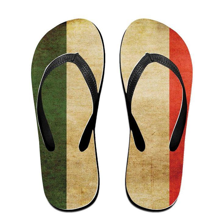Vintage Italian Flag Unisex's Flip Flops * Read more  at the image link.