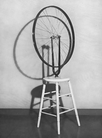 Marcel Duchamp Readymade: bicycle wheel