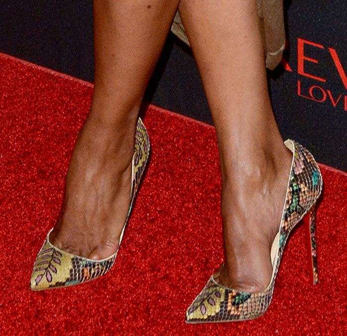 Halle Berry Suffers Unsightly Wardrobe Mishap in Louboutins