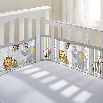 BreathableBaby Safari Fun Breathable Mesh Crib Liner